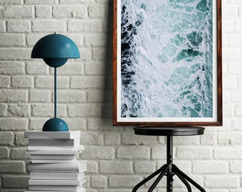 Ocean, Wall Art Print,  Beach Photography, Water Poster, Ocean Waves Art, Ocean Water Art, Ocean Water Print, Ocean Art, Ocean Waves Print