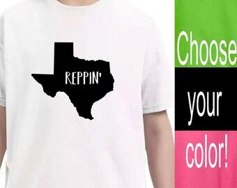 Youth Clothing, Texas State Shirt, Kid Toddler Shirts, Baby Onesie, Unisex kids, Pink Lime Green Black White Shirts, Kid tshirt