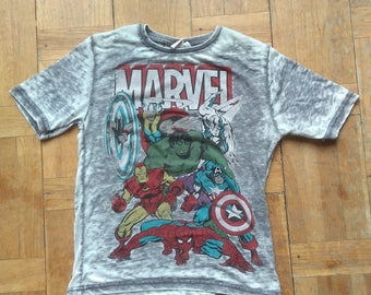 MARVEL COMICS TSHIRT Spider Man Hulk Capitain America Wolverine Thor Shriiipp Series Tv Rare Television Comics Unique Animated Tee