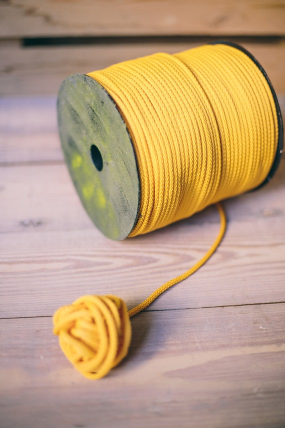 Yellow yarn- polyester cord- crochet cord- crochet yarn- macrame yarn- macrame cord- crochet cord- macrame rope- macrame cord- marcame #10