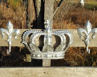 Metal Crown Wall Decor wrought iron wall art / metal wall art / large metal wall art