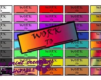 Work stickers, erin condren, plum paper, happy planner, printable stickers, printable work stickers, planner stickers