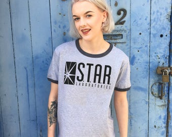 Star Labs, The Flash | Grey Ringer Tee