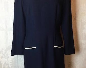 142. VINTAGE - Blue Shift Dress