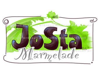 Etikett, JoSta Marmelade