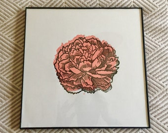 Peonies Print with background color