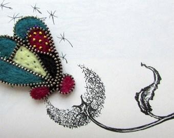 Zipper pin Zipper Brooch heart zipper Pins  zipper jewelry zipper brooch zipper felting pin  zipper metal pin zipper heart brooch pin heart