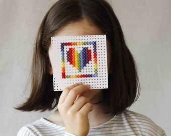 Easy embroidery - Cross stitch for children and elderly people