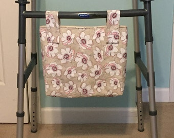 Walker or Wheelchair or Rollator Hanging Tote Bag