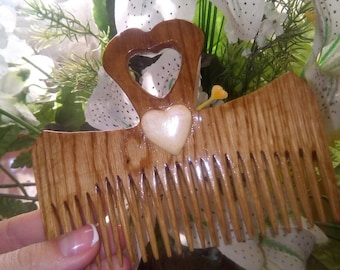 Wooden comb Birthday present gift  Gift for mom Gift for her  Sister gift Wife gift Womens gift  Mothers day Decorative comb Daughter gift