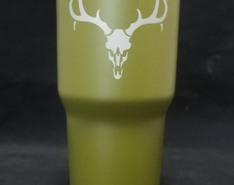 30oz Mossy Oak Tumbler with Deer Skull