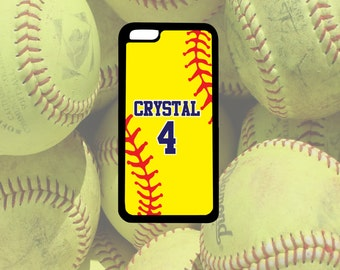 Softball Phone Case, iPhone 4/4s, iPhone 5/5s, iPhone 5c, iPhone 6/6s, iPhone 6+/6s+, Samsung Galaxy S3, S4, S5, S6, Note 3, Note 4, Note 5