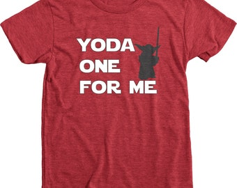 Yoda One For Me Star Wars Valentine's Day Kids Tri-blend T-Shirt
