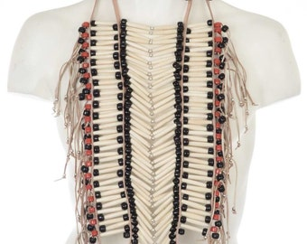 Indian Hairpipe Bone Breastplate Full Apache Style Powwow jewelry