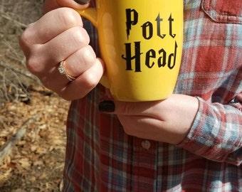 Pott head coffee mug; Harry Potter coffee mug