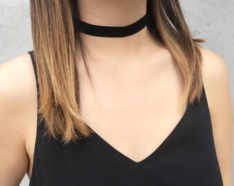 Black Velvet Choker, Velvet Choker, Thin Choker, Boho Choker, Layering necklace, Choker, Necklace