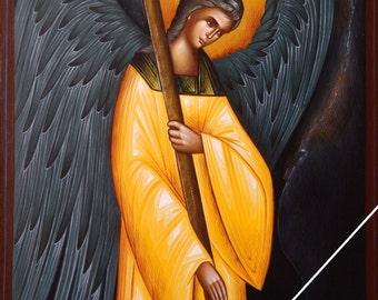 Angel of God, orthodox byzantine icon, original hagiography, hand painted on request, Άγγελος Κυρίου, ορθόδοξη βυζαντινή εικόνα, αγιογραφία