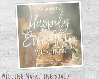 Wedding Marketing Template, Photoshop, Bridal Mini Session Template, Wedding Photography Marketing, Photography Marketing Flyer, Now Booking