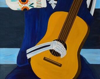 Painting of El Guitarrista