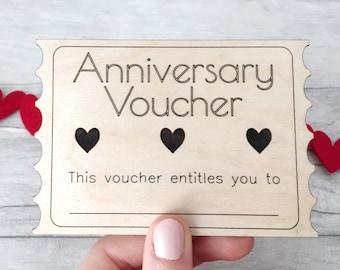 Anniversary Voucher - Anniversary Coupon - Anniversary Gift - 1st Anniversary - 5th Anniversary - Anniversary Card - Anniversary Gift