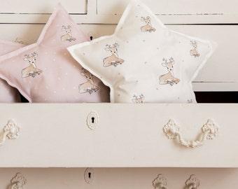 Star decorative pillow, Decorative Nursery Pillow, baby pillow, nursery decor pillow, woodland nursery decor, crib pillow, kids pillow