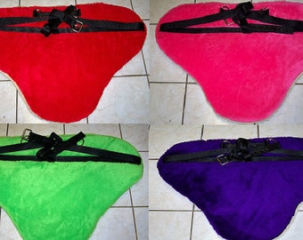 """1905 Heavy Fleece Bareback Pad. Horse size / 8 colors to choose from. Aprox 1"""" thick, with Heavy Nylon Straps"""