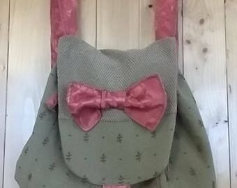 Small backpack made of recycled textiles