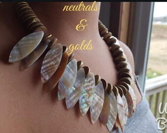 Golden or Chocolate Warrior-stone necklace