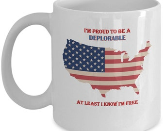 Deplorable Mug Etsy - Deplorable trump supporters hats with us map of red states