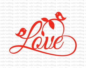 Heart svg, Love svg, Wedding svg, birds svg, Valentines day svg, Valentine svg dxf jpeg cutting files for Silhouette Cameo, Cricut