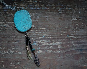 Turquoise Dream Beaded Necklace