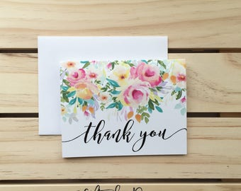 thank you Card, Floral thank you Card, wedding card. Congraulations Card, thanks Card, Card for Mom, Card for Sister. Gift for her