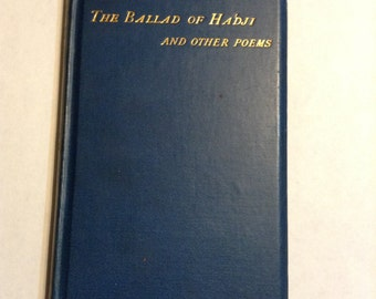Vintage book The Ballad of Hadji and Other Poems by Ian Hamilton, etched frontispiece by William Strang.