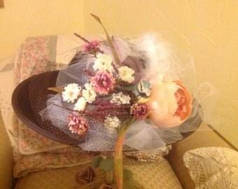 Re-vamped vintage ladies hat/ Ky Derby!