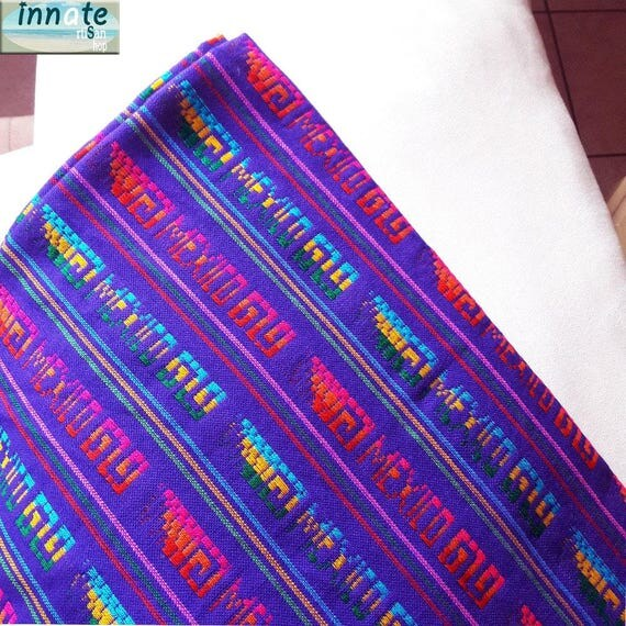 Purple Cambaya PUR802, Mexican Fabric, Mexican Tablecloth