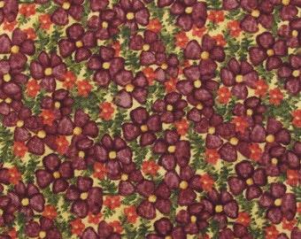 Garden Buzz, Debi Horn SPX Fabrics,  Purple flower scatter, Quilt Fabric 100% Cotton