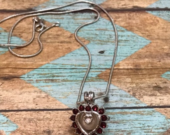 Red Heart Valentine's Day Pendant-No Pearl lncluded