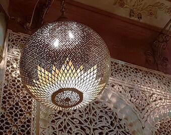 Moroccan chandelier, Wall chandelier, Traditional chandelier, Chandelier light, Copper chandelier, Mosaic Lighting, arabian chandelier