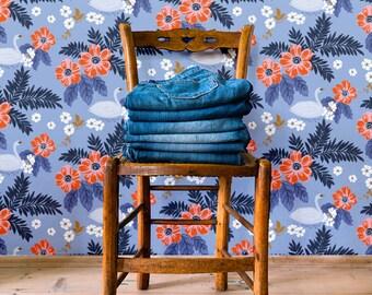 "Floral wallpaper ""Lac"""