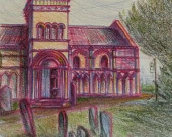 Tickencote church - pencil