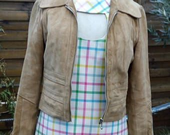 Sand color suede  jacket from seventies