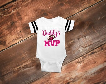 Baby Football Jersey, Funny Baby Clothes, Baby Football Shirt, Baby Girl Clothes, Baby Girl Gift, Baby Girl Football Jersey