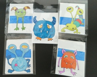 creative creature note cards