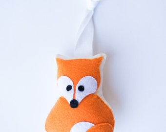 Handmade Fox rattle and play gym toy