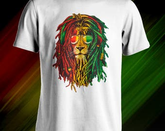 Reggae music rasta lion T-Shirt