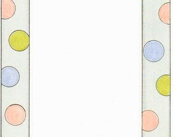 Polka Dots Cardstock Frame My Mind's Eye Frame Up's Scrapbook  Embellishments Cardmaking Crafts