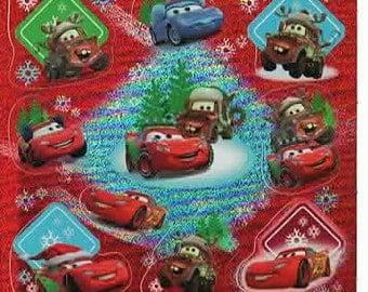 Disney Cars Scrapbook Stickers Embellishments Cardmaking Crafts 3.5x3.5 Inch Sheet