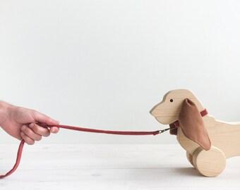 Pull Dog. Wood Toy. Toy. Kids Toys. Kids Decor. Dog Toy. Handmade