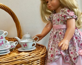American Girl Tea Party Dress/ Flower Girl Dress - fits American Girl 18 inch doll