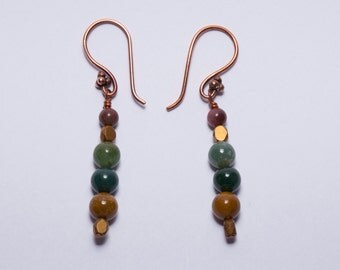 Copper Fancy Jasper Earrings